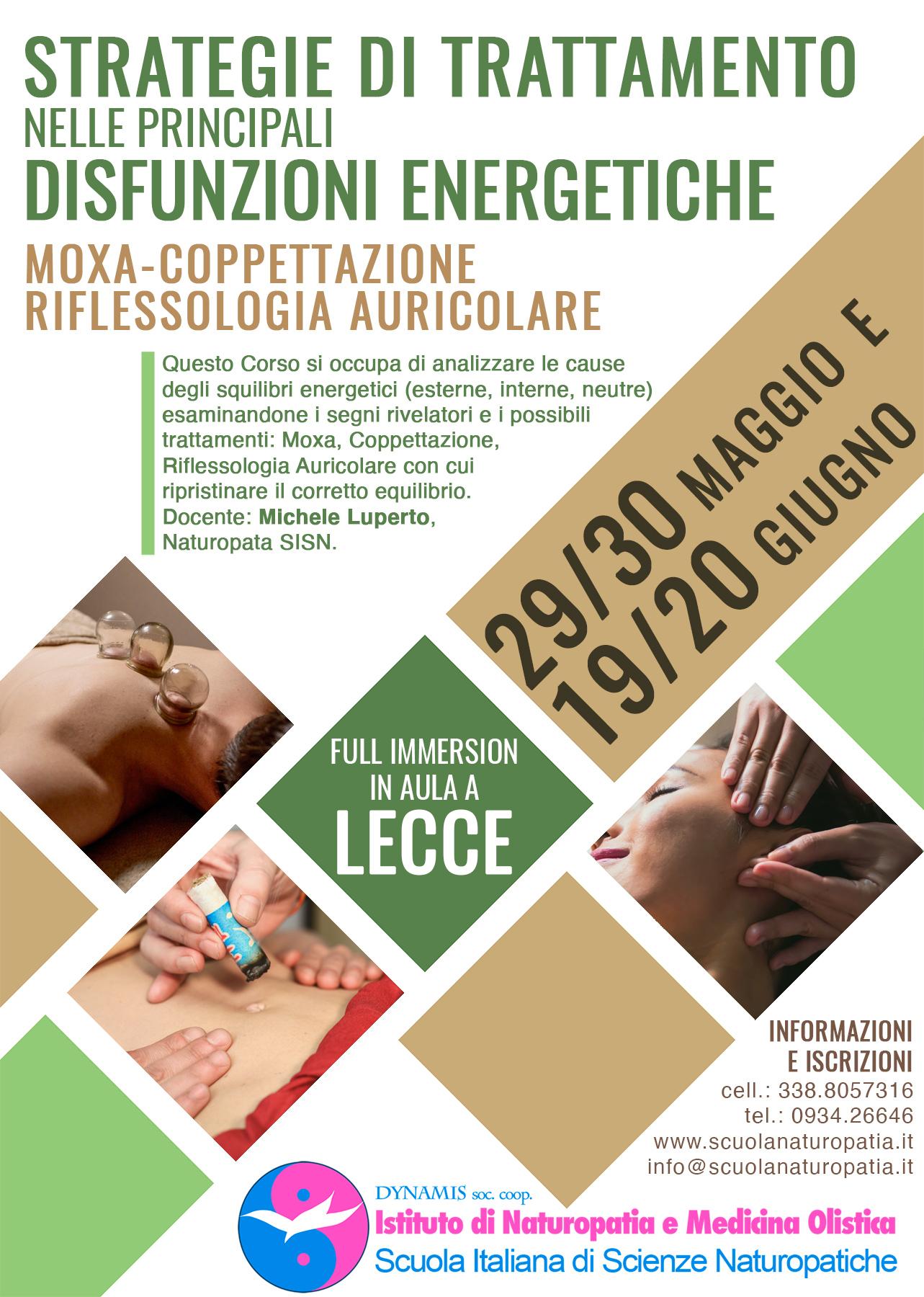 STRATEGIE DI TRATTAMENTO MANUALE (MOXA - COPPETTAZIONE - RIFLESSOLOGIA AURICOLARE) NELLE PRINCIPALI DISFUNZIONI ENERGETICHE